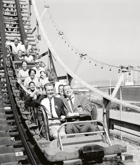 PNE Playland archival photo of roller coaster