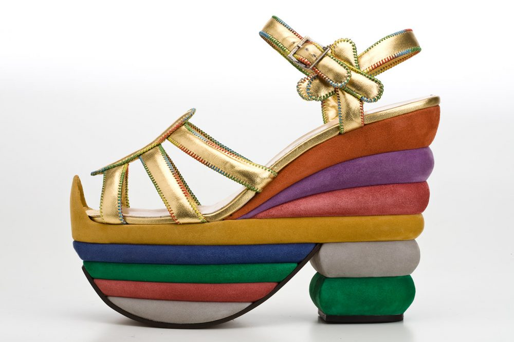 MONTECRISTO Blog: Ferragamo's Creations, Rainbow Platform Sandal