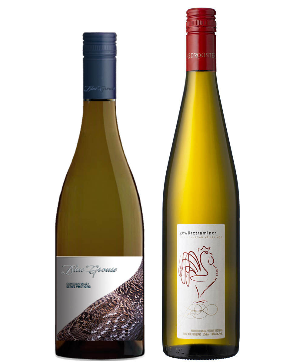 MONTECRISTO Blog: Blue Grouse Pinot Gris and Red Rooster Gewurztraminer