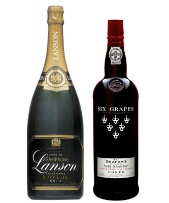 MONTECRISTO Blog: Lanson Brut and Graham's Six Grapes Port