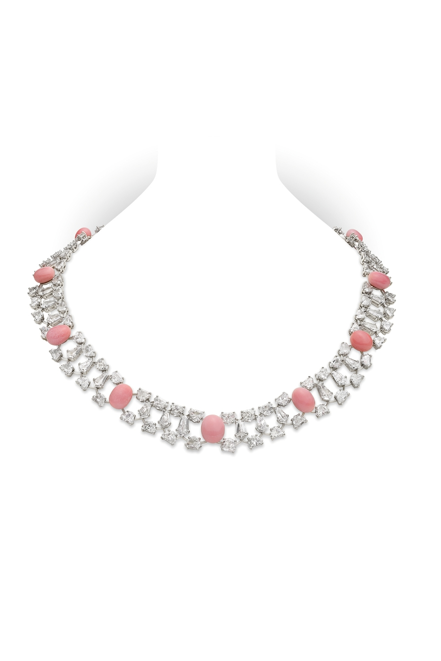 Conch Pearl And Diamond Necklace