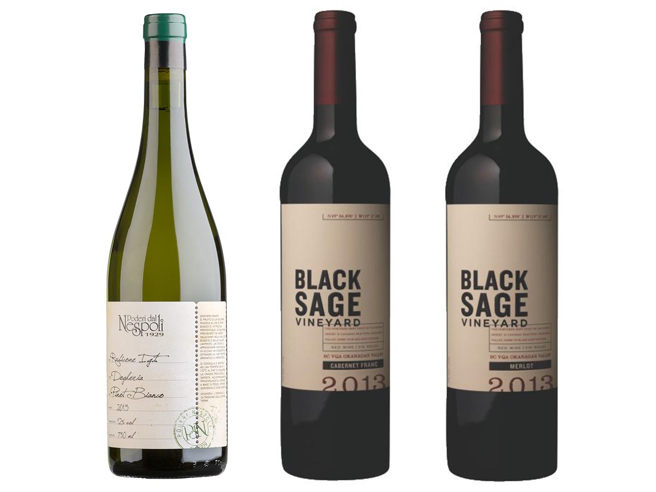 MONTE Blog: Wine Wednesday Poderi dal Nespoli Dogheria, Black Sage Vineyard Merlot, and Cabernet Franc