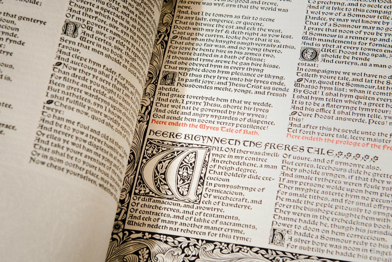 "UBC Library's Kelmscott ""Chaucer"""