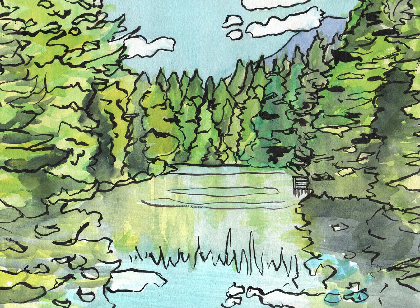 Lynn Canyon swimming hole near Vancouver
