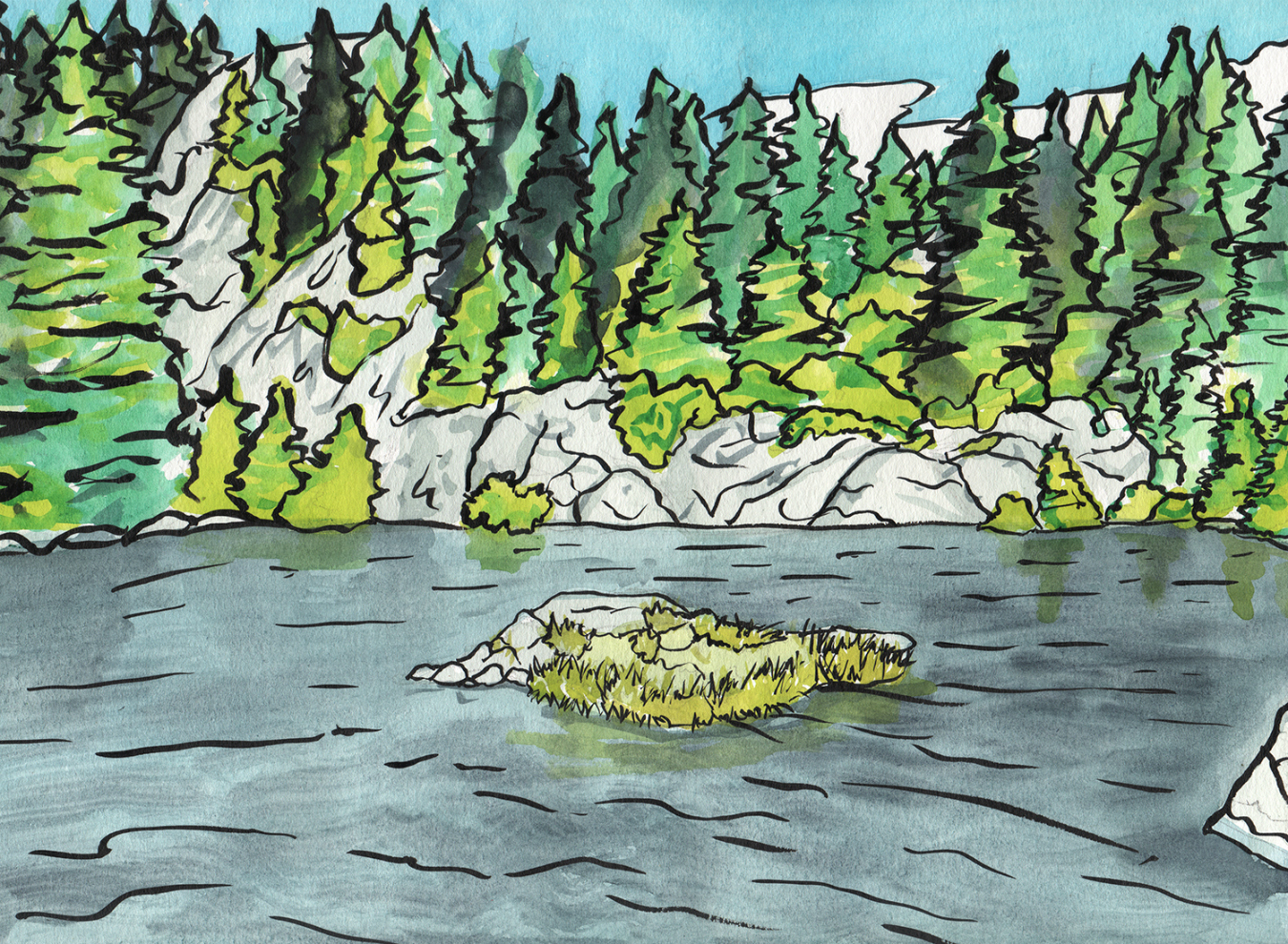 Mystery Lake swimming hole near Vancouver