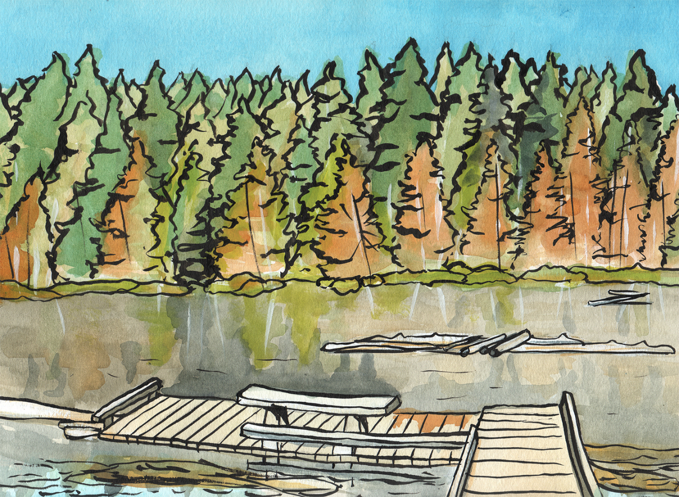 Whyte Lake swimming hole near Vancouver