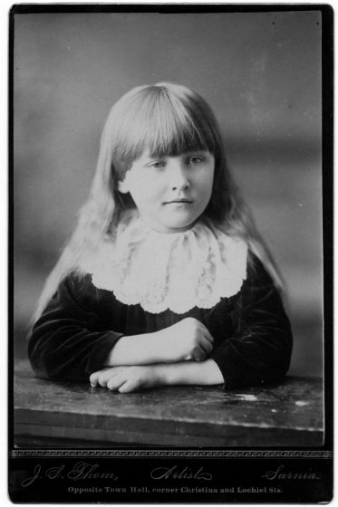 Maud Menten at age seven.
