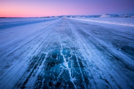 Northern Canada ice road