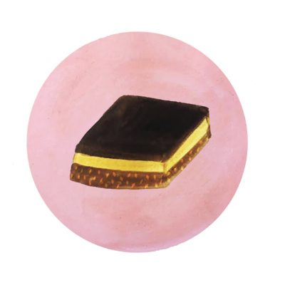 Illustration of a Nanaimo bar