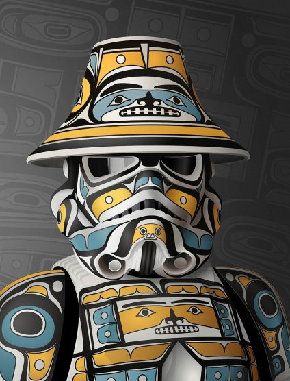 The Artist Who Blends His Love of Star Wars with Indigenous Art