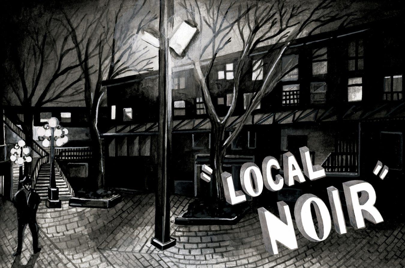 Vancouver crime fiction illustration by Janice Wu.