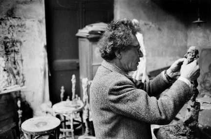 Alberto Giacometti in his studio, 1960 Photo: Rene Burri/Magnum Photos