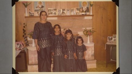 Sisters Salakshana, Jeeti and Kira with their mother growing up in Williams Lake, a small resource based town in British Columbia, where their parents immigrated from India.