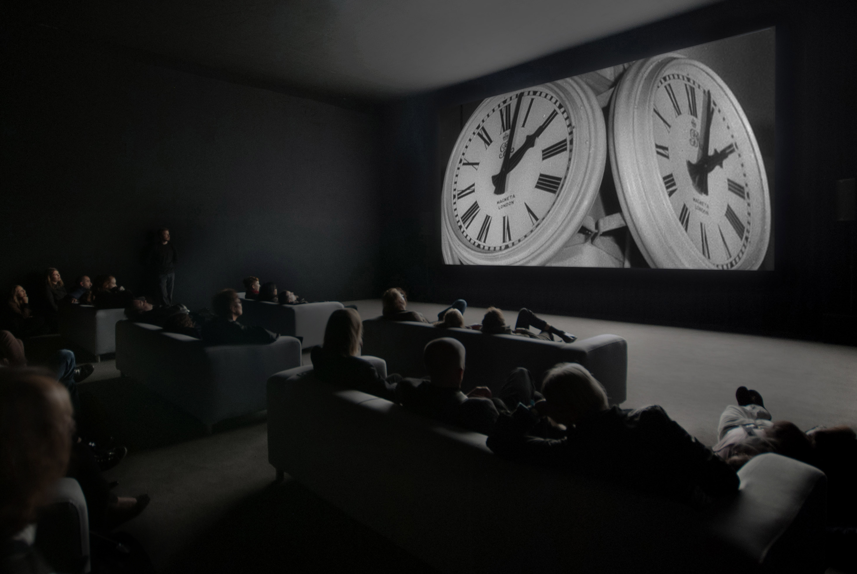 Christian Marclay, The Clock, 2010 (installation view), single channel video, duration: 24 hours © the artist. Courtesy White Cube, London and Paula Cooper Gallery, New York