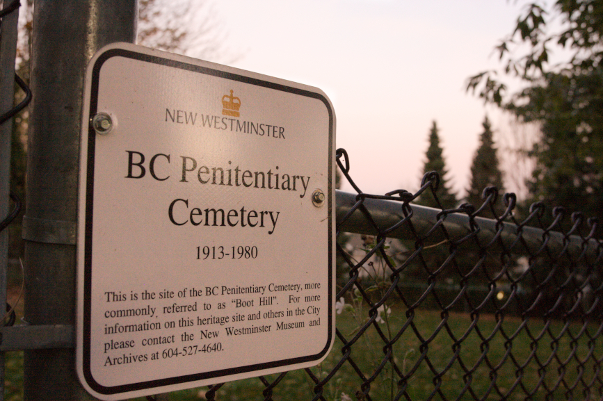 B.C. Penitentiary Cemetery. Photography by Jesse Donaldson.
