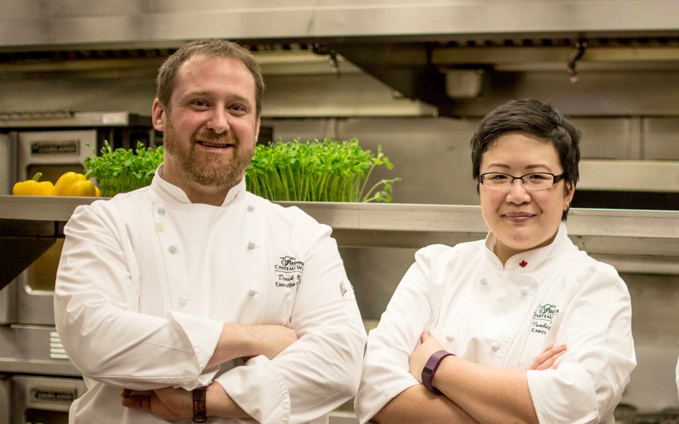 Fairmont Chateau Whistler executive chef Isabel Chung and executive sous chef Derek Bendig