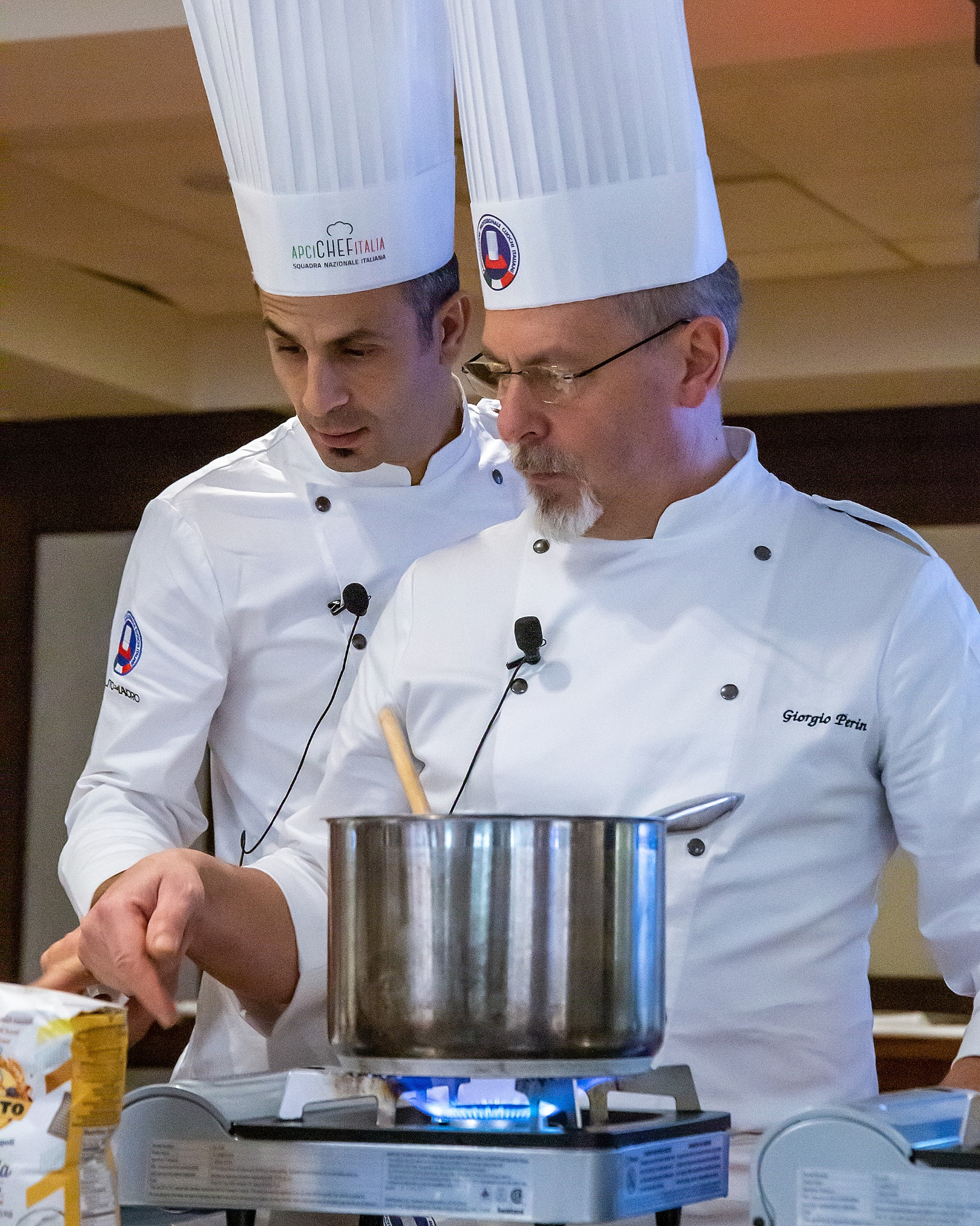 Chefs Luca Malacrida and Giorgio Perin.