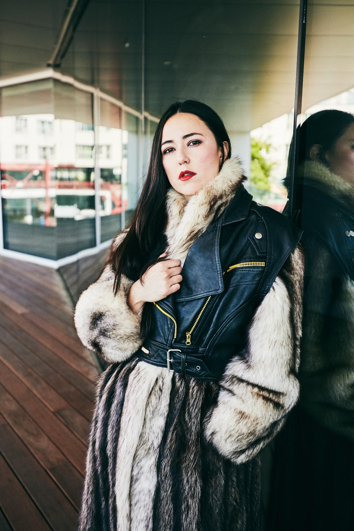 Joleen Mitton. Photo by Evaan Kheraj - Designer is Sho Sho Esquiro
