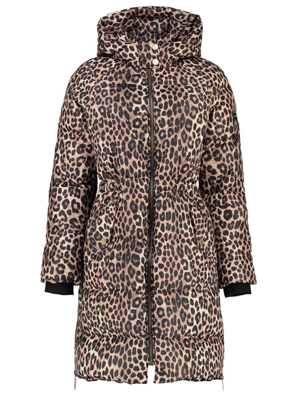 Michael Kors Leopard-Print Ciré Puffer coat