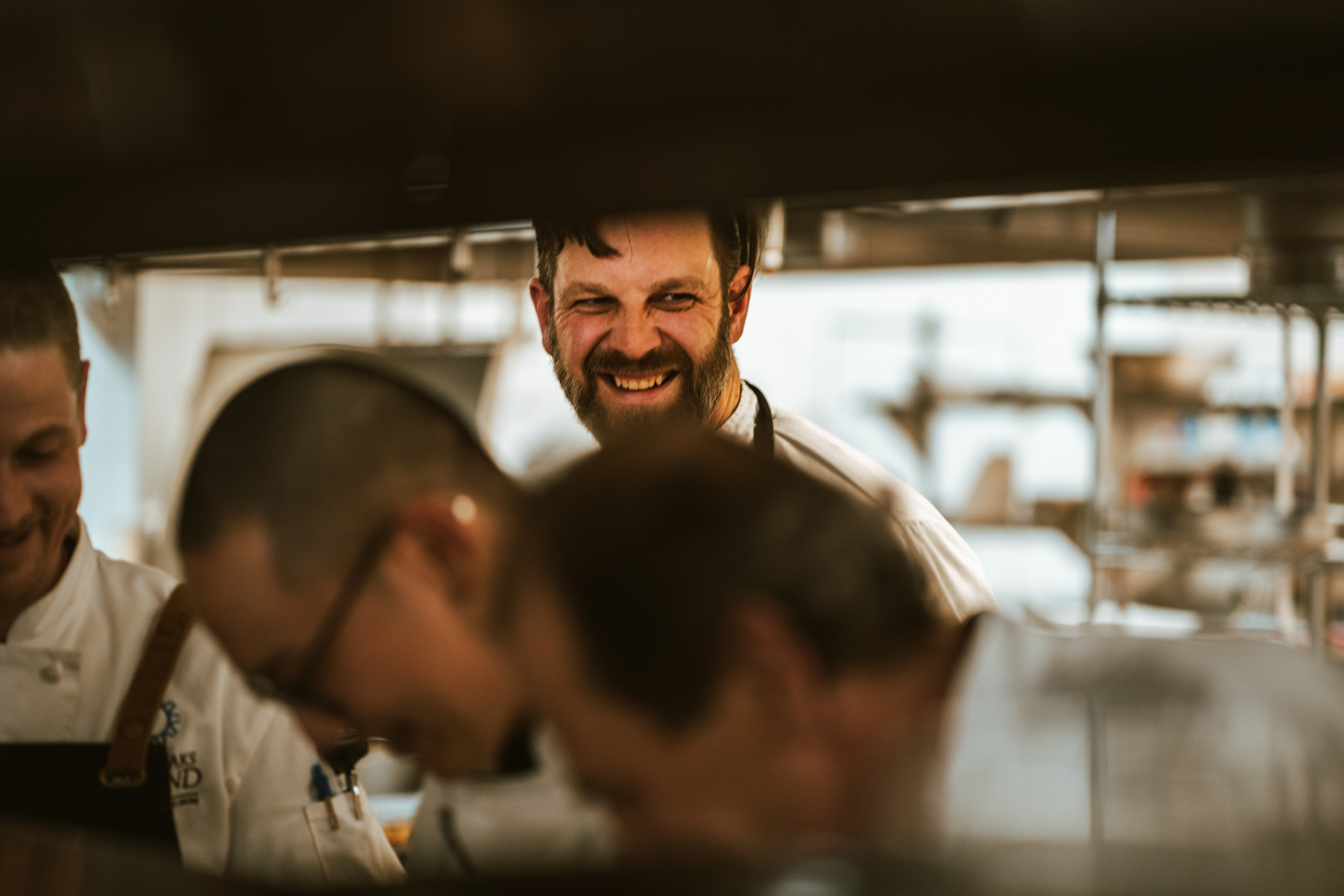Chef Derek Uhlemann and his team in the Sun Peaks Grand Hotel's kitchen. Photo by Kyle James/Oliver Osoyoos Wine Country.