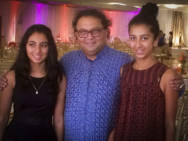 Vikram Vij with his daughters, Nanaki and Shanik. Courtesy of Douglas & McIntyre.