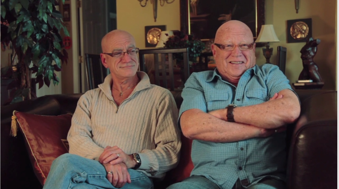 Patrice Savoie and Bryan Searle, right, in a scene from Mavreen David's documentary A Little Elbow Room
