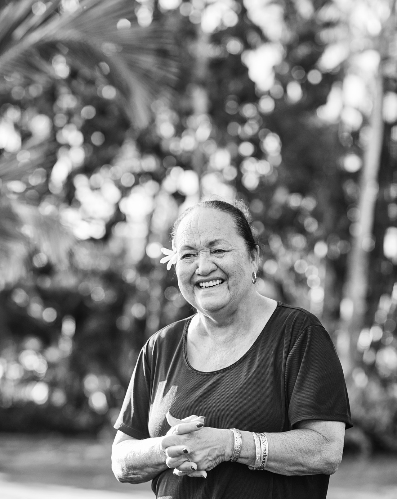 Auntie Nettie Tiffany, a local spiritual Kahu.