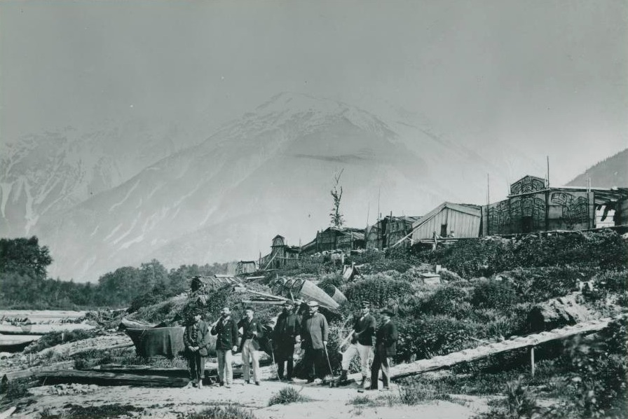 A view of the village of Bella Coola, circa 1873 (image PN7195-B). Photo by R. Maynard/Courtesy of the Royal BC Museum.