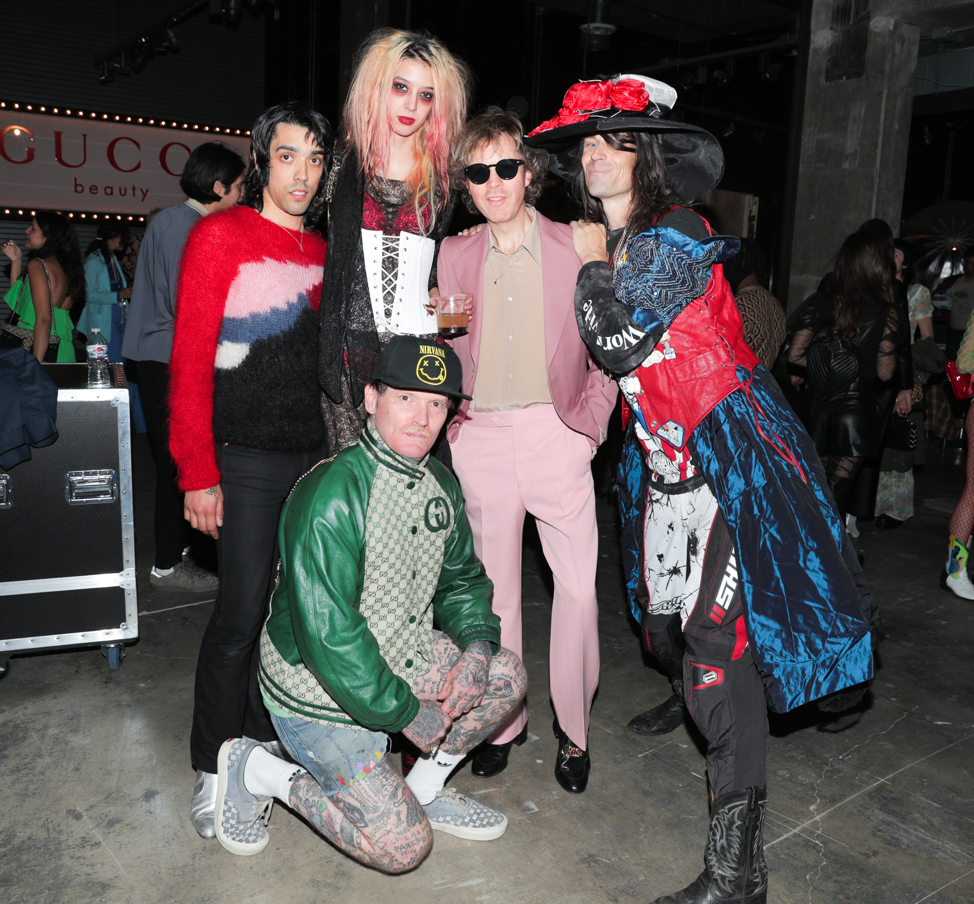 Beck and friends at Gucci launch for Mascara l'Obsur