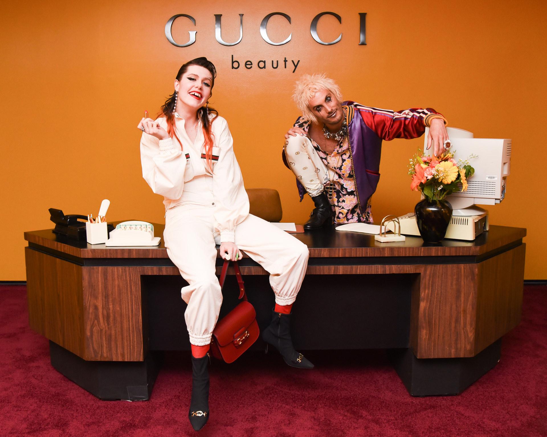 Dani Miller and Jeffertitti Moon at Gucci Beauty