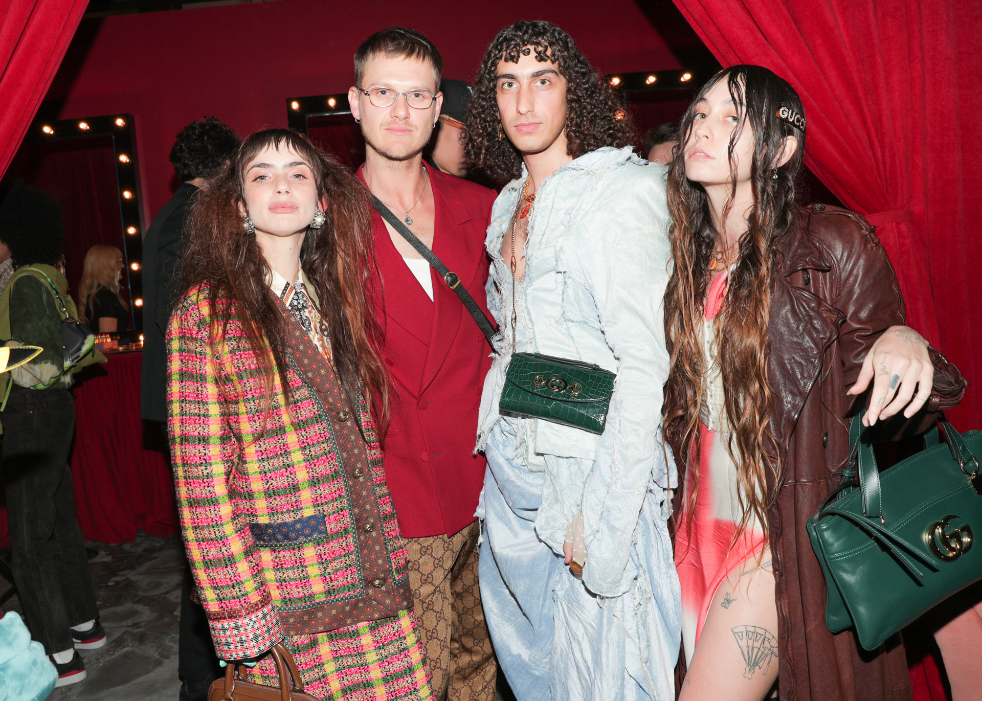 Zoe Bleu Arquette and friends at Gucci launch
