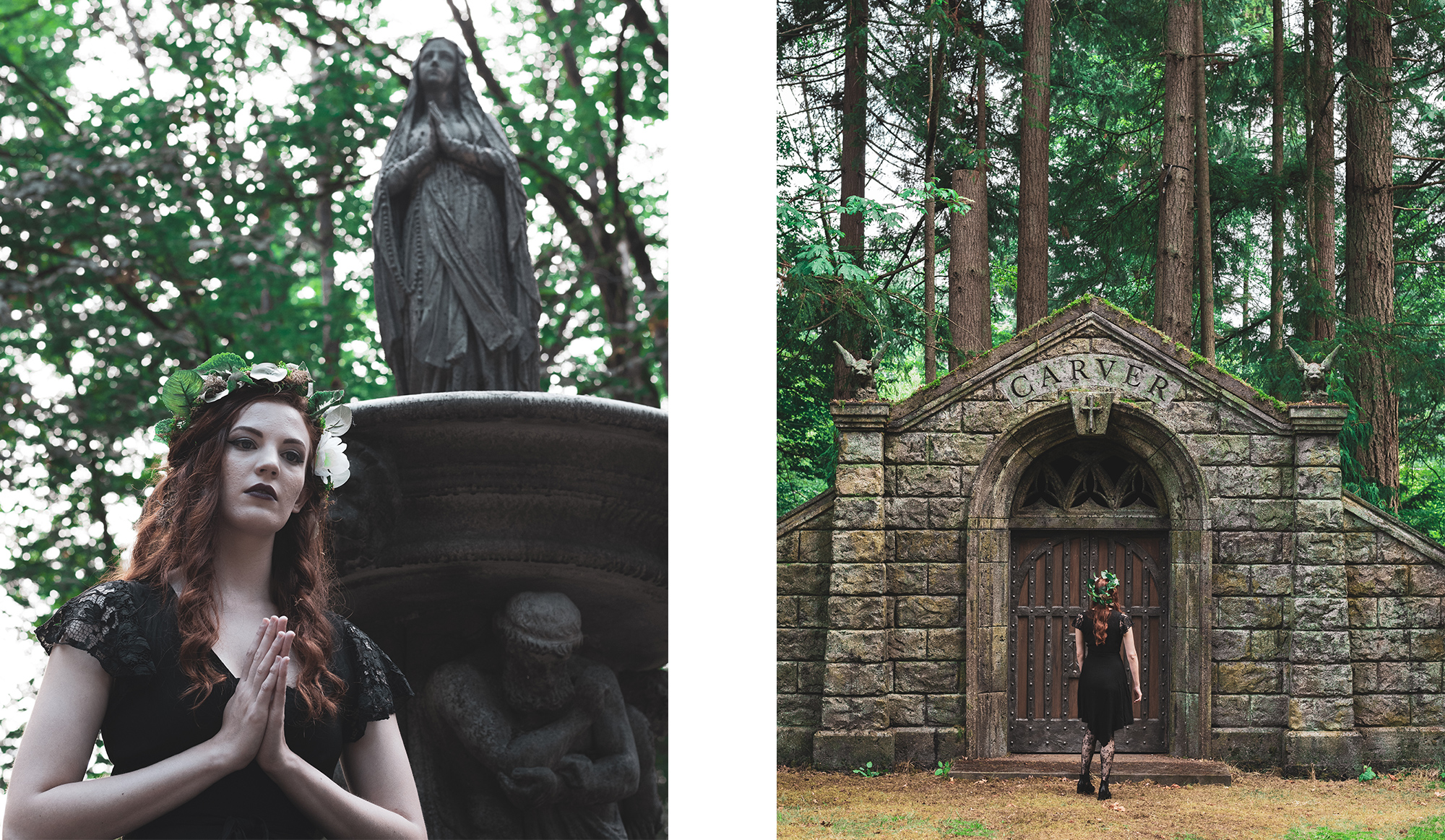 Musician Kelpi encounters Supernatural set props in North Vancouver Cemetery.