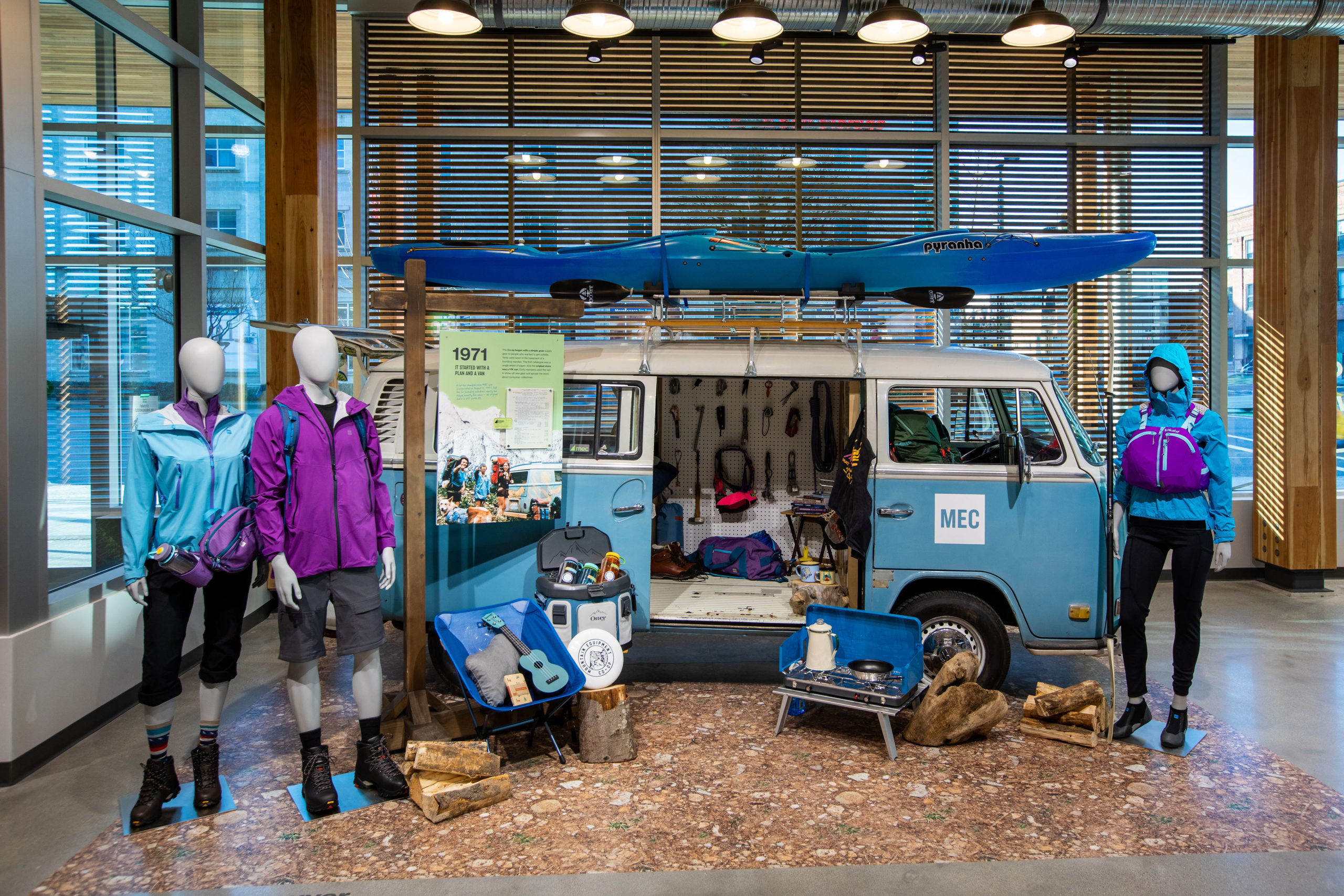Mountain Equipment Co-op van