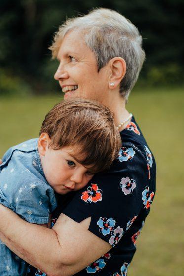 Grandma Aileen with grandchild.