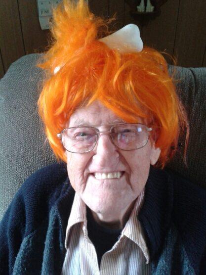 George K Ilsley father in orange wig
