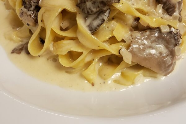 Wild Mushroom Tagliatelle With Chive Blossoms From Vancouver's Cibo Trattoria
