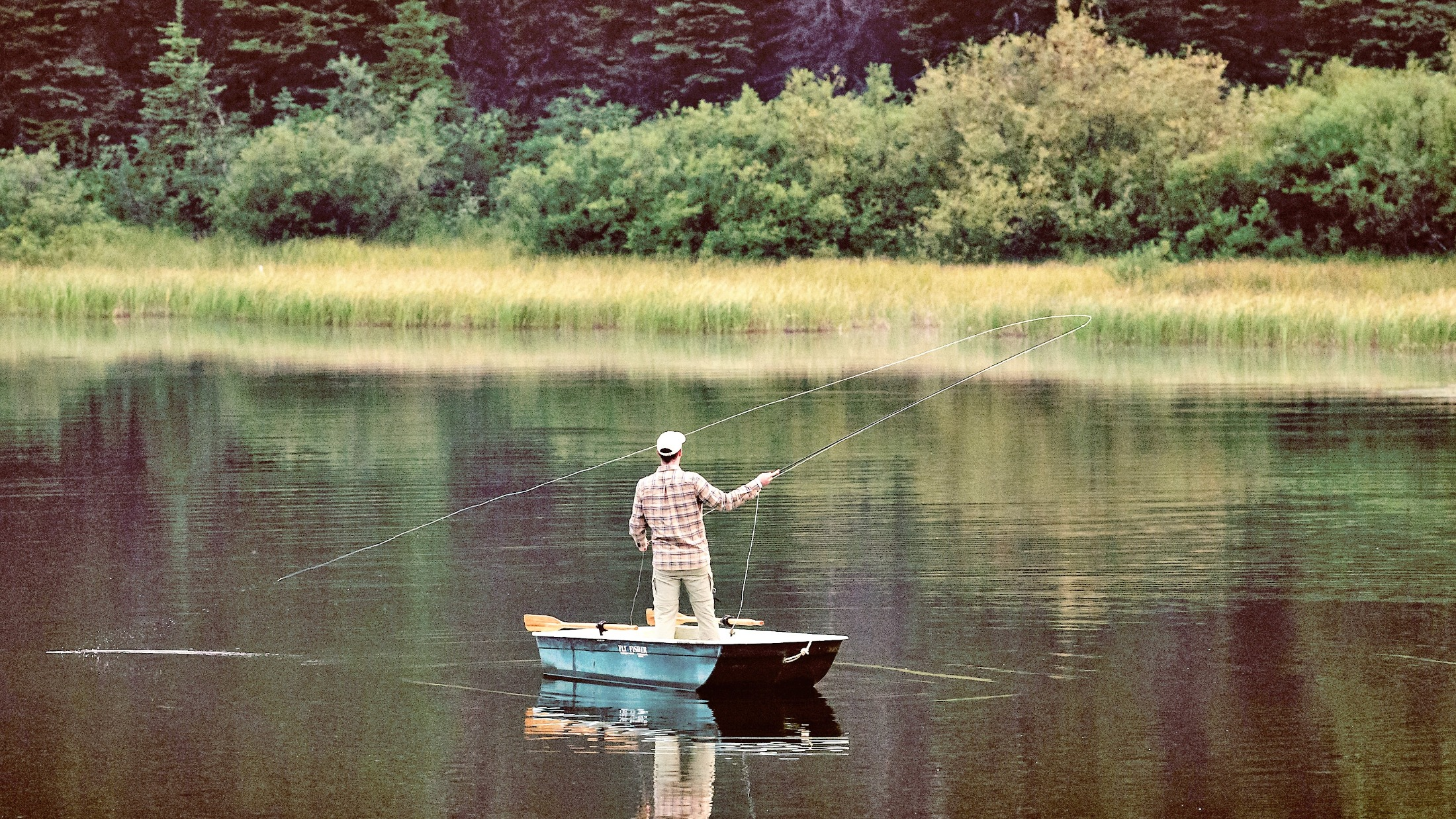 Fly fishing at Meadow Lake Fishing Camp