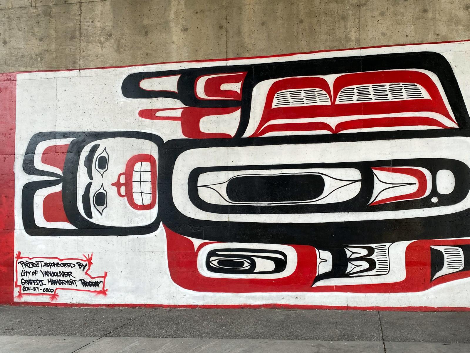 Indigenous art mural Vancouver