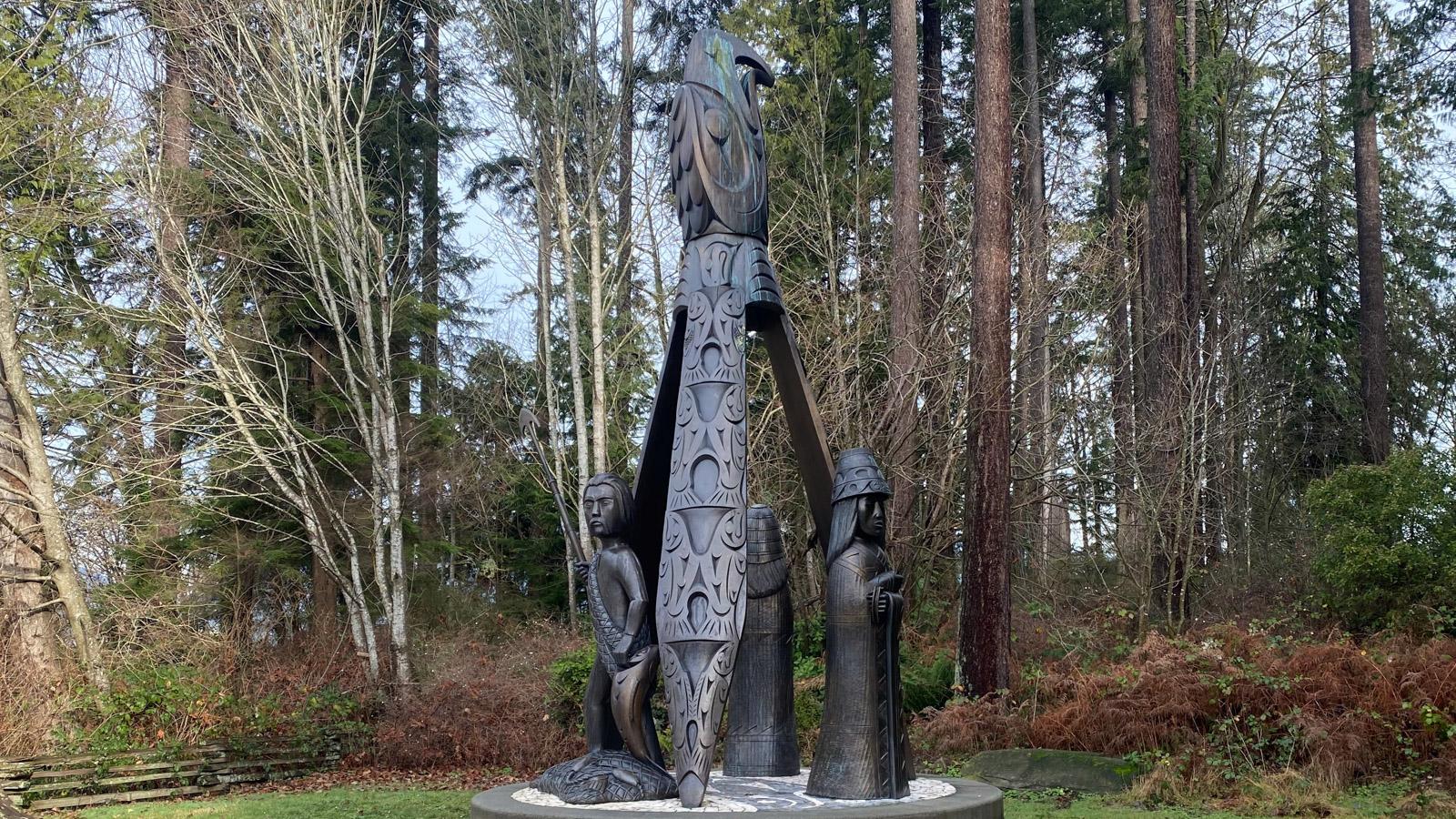 Indigenous sculpture Vancouver outdoor art