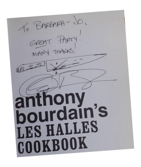 Anthony Bourdain autographed Les Halles Cookbook