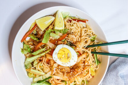 Kimchi noodle salad from Kailyn Chun