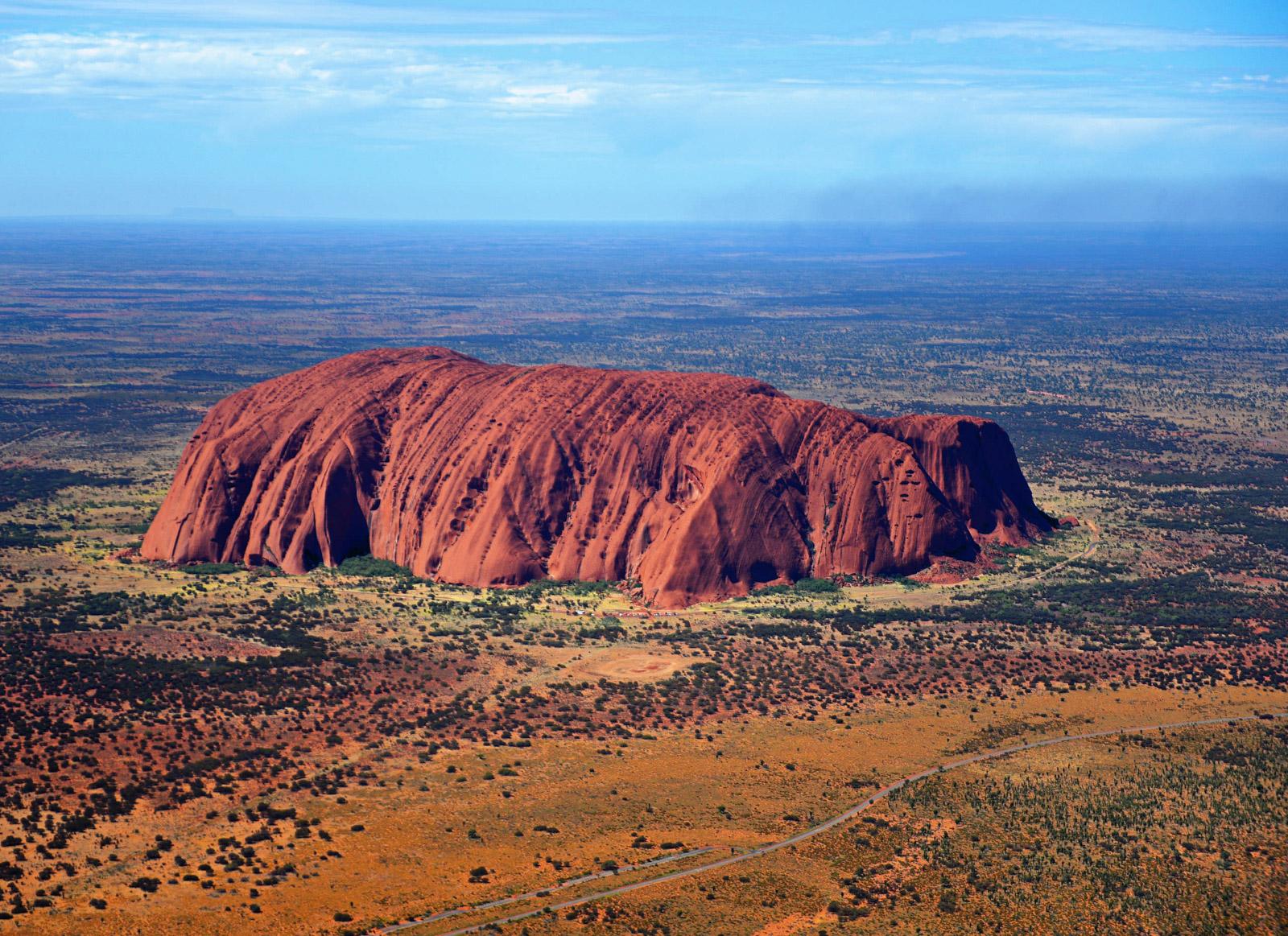 Uluru in the Australian desert